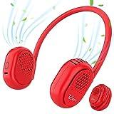 Ventilador de Cuello, Tesecu Recargable Mini Ventilador de Manos Libres Ajustable de 360° Ventilador Portatil 3 Velocidades, Ventilador Personal Portátil para El Hogar/ La Oficina/ Viajes/ Exterior