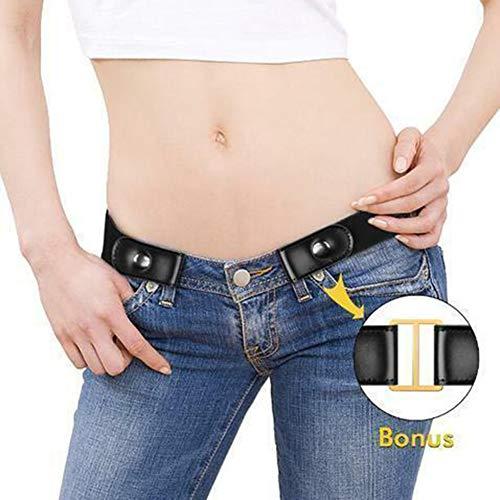 Henreal gesp verstelbare riem ademend PU-leer rekbaar voor vrouwen mannen jeans broek