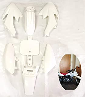 HTTMT XFY-WHITE white Plastic Body Work Fairing Kit Compatible with Honda XR50 CRF 50 125cc Pit Bike