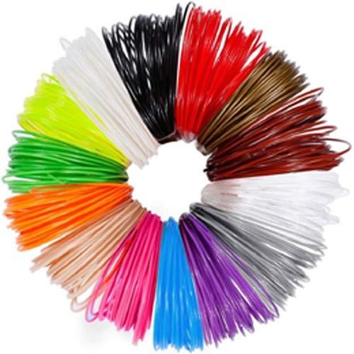 NO LOGO ZFX-3DHAOCAI, 3m X 12 Colores 3D Material de Impresión Pluma 3D Filamento PLA 1.75mm Recambio de Plástico for 3D Impresora Dibujo Impresora Pluma Lápiz (Color : 12Colors 36m PLA)