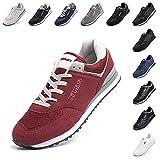 Zapatillas Hombre Mujer Casual Sneaker Gimnasio Cómodos Clásico Zapatos Deportivas Running Rojo 1 Talla 43