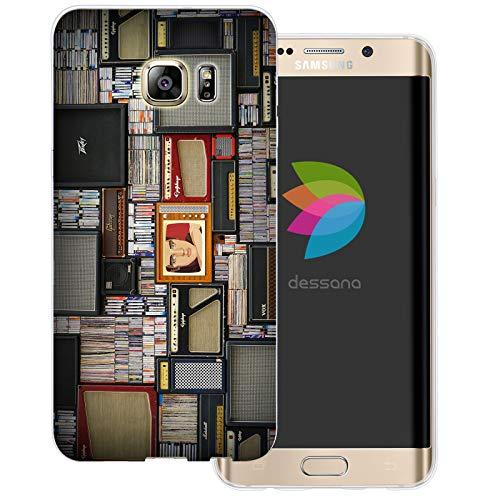 dessana Rock and Roll - Cover morbida in silicone TPU trasparente, 0,7 mm, per Samsung Galaxy S6 Edge Plus