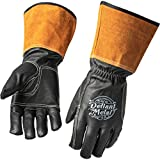Defiant Metal TIG Welding Gloves - Premium Black Goatskin Leather (Medium)