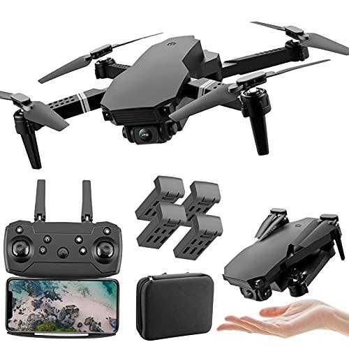 XFTOPSE S70PRO Drone com Câmera, Mini Drone 4K HD com 2.4G WIFI FPV Vídeo ao Vivo, Tempo de Vôo de 10 Minutos, Dobrável RC Quadcopter para Iniciantes, Ajuste da Altura da Suspensão, modo Sem Cabeça