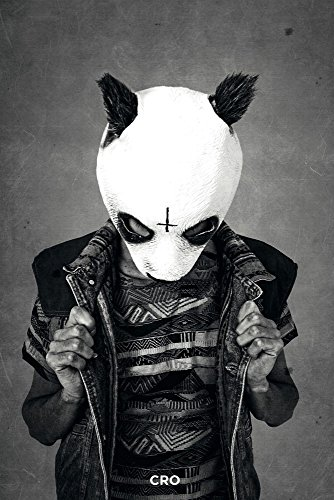 Cro - Outlines B&W - Carlo Waibel Musik Panda +5 Rap Pop Poster Plakat Druck - Größe cm