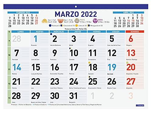 Finocam - Calendario Faldilla 2022 F94 - 430x310 mm Mixta Español