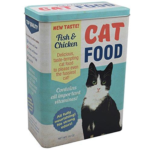 My-goodbuy24 Vorratsdose XL Futterbox für Katze - Futter aufbewahrung Katzenfutter Futter Container aus Aluminum - mit klappbaren Deckel - 24,8 x 18 x 10 cm - bis zu 4 Liter