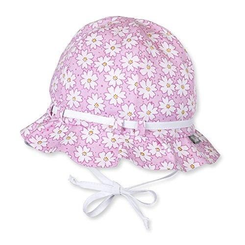 Sterntaler - Mdchen Sommerhut zum Binden mit Schleife Blumen, pink - 1411700, Pink, 49