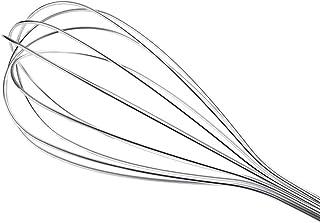 TIREOW Outils Pratiques de Batteur à oeufs de Batteur de Ballon de Mélangeur d'acier Inoxydable de Fouet de Cuisine pour P...