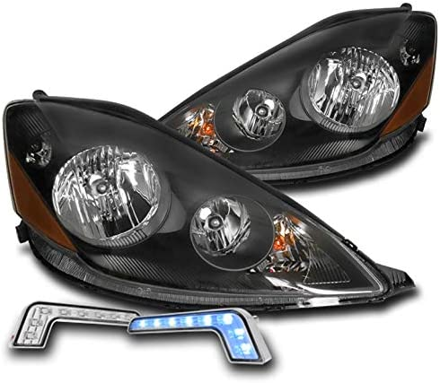 ZMAUTOPARTS Replacement Attention brand Daily bargain sale Black Headlights with Bl 6.25