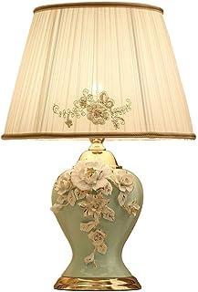 NARUJUBU Nouveau Chinois Lampe de Table, Chambre Lampe de Chevet Cuivre, Salon, Chambre, Lampe décorative intégralement en...