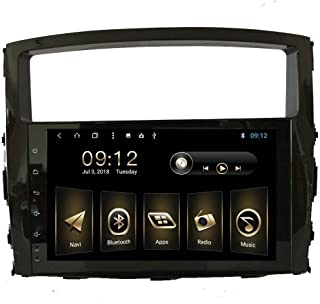 9Inch Car Radio for Mitsubishi Pajero 2009 2010 2011 2012 2013 2014 Android 8.1 Auto GPS Navigation Stereo with 3G WiFi RDS Mirror Link Bluetooth SWC Support Backup Camera