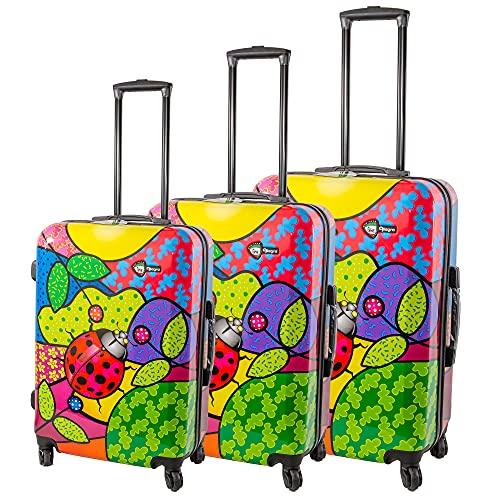 Estuche 4W Hardshell Trolley CASE Lady Bug 3PCS, mariquita, Talla única,
