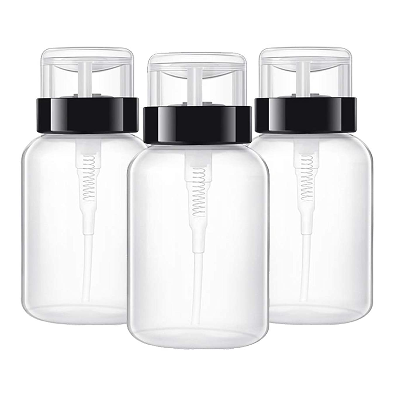 ヒープ裏切り暴行マニキュアツールツール 空ポンプ ボトル ネイルクリーナーボトル ポンプディスペンサー ジェルクリーナー 200ミリリットル 3ピース