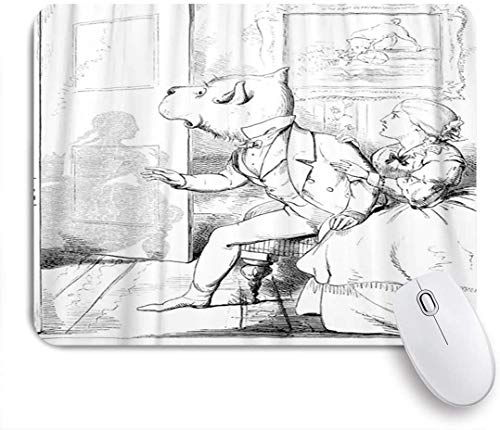 NANITHG Ultra Thick Waterproof Mouse Pad,Fables The Dog and Shadow,Works for Computers,Laptop,All Types of Mouse pad,Office/Home