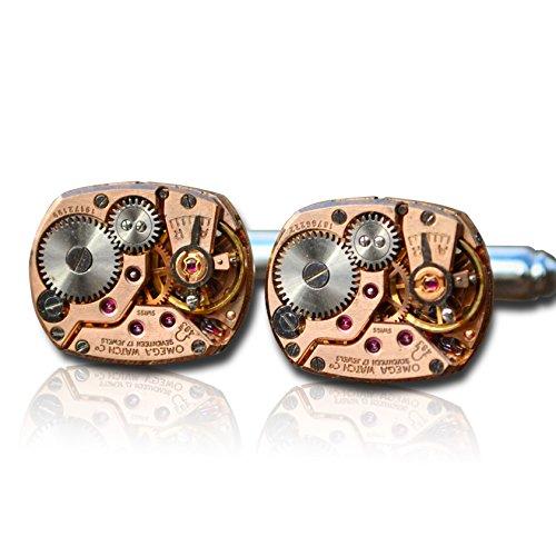 Herren-Armbanduhr mit Uhrwerk, Steampunk-Design, in Geschenkbox