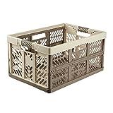Keeeper robusta caja plegable con mangos suaves, 54 x 37 x 28 cm, 45 l, ben, crema/marrón