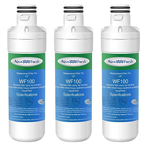 Aqua Fresh WF100 Replacement LT1000p Refrigerator Water Filter Compatible with LG LT1000P, LT1000PC, LT1000PCS, ADQ74793501, ADQ74793502, LMXS28626S, LMXC23796S (3 Pack)