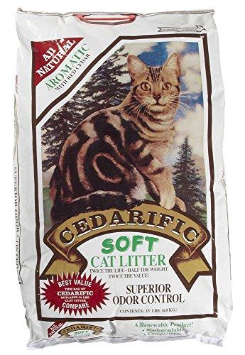 Northeastern Products Cedarific Natural Cedar Chips Cat Litter, 15 Pound Bag