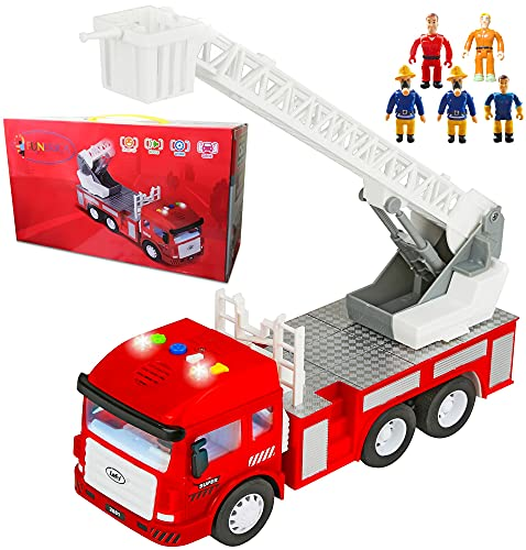 Product Image of the Toy Fire Truck with Lights and Sounds - 4 Sirens - Extending Ladder - Powerful...