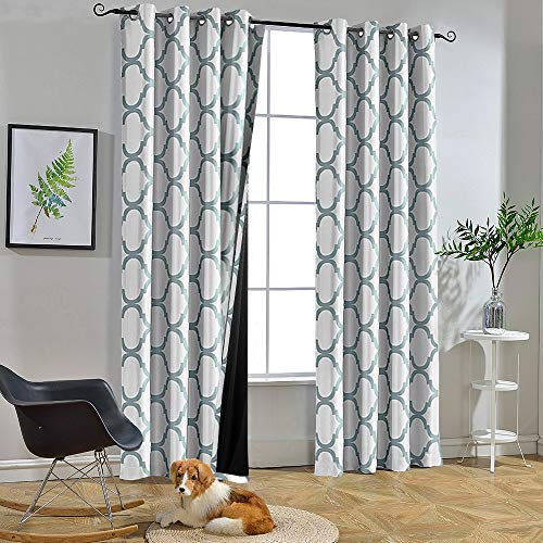 Melodieux Moroccan 100% Blackout Curtains for Bedroom