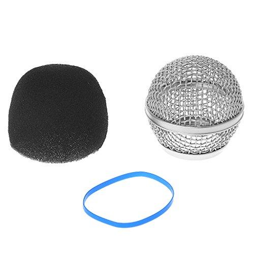 Gszfsm001 Rejilla de malla para micrófono de cabeza de bola de repuesto para Shure Beta58A / Beta58