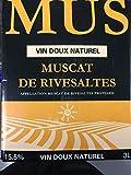 Muscat de Rivesalte | Vin doux naturel | Cubi Bag in Box 3L | Appellation Muscat de Rivesaltes Protégée | 15,5% | 3 litres