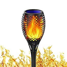 Martiount Lumière solaire de torche Lampe Torche de Jardin Torche Solaire Imperméable Lumières Solaire de Flammes…