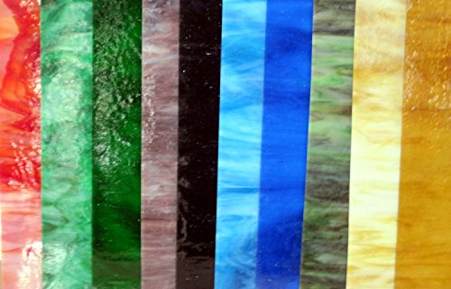 20 Sheets SPECTRUM Stained Glass 3mm (4' x 6') Opals Cathedrals Texture