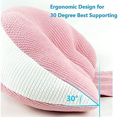 Side Sleeper Pregnancy Pillow, Side Sleeper Maternity Belly Support Pillow, Pregnancy Double Wedges for Body, Belly, Back Sup