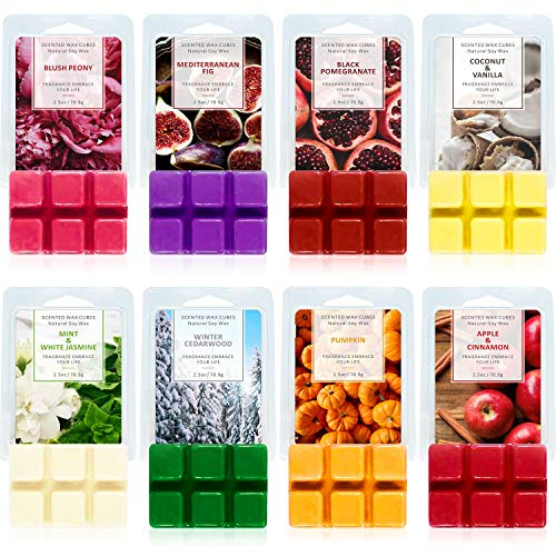 SCENTORINI Scented Wax Melts, 8x2.5 oz, Wax Cubes, Scented Soy Wax...
