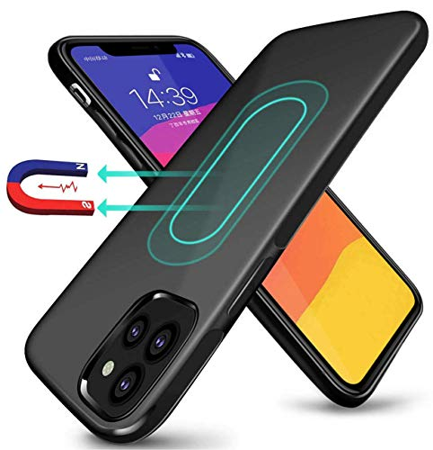 ESTPEAK Compatible with iPhone 11 Pro Max Magnetic Case 2019,[Invisible Built-in Metal Plate] Ultra Thin Support Magnetic Car Mount,Drop Protection Soft TPU Anti-Scratch Protective Phone Case