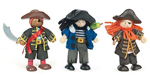 Le Toy Van – Collezione di Pirati educativi in Legno Budkins Buccaneers Pirates Gift Pack   Ragazze & Ragazzi Pretend Play Pirate Toys