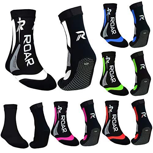Roar Neoprene Socks MMA Boxing Protector Ankle Brace Gym Training 2MM Thermo Socks for Men (White, Small)