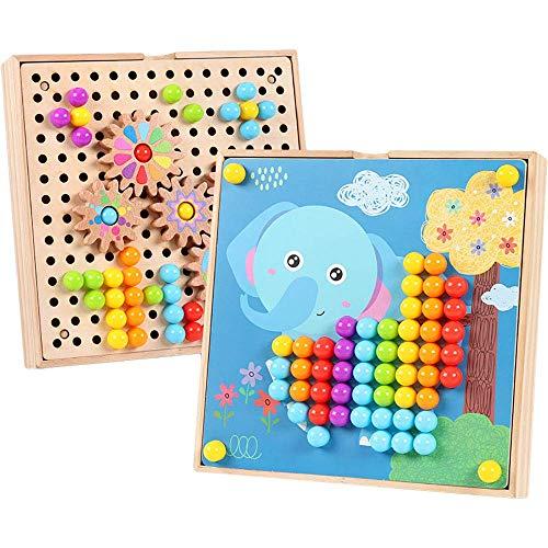 Mosaik Steckspiel mit Zahnrädern   Farbe Steckspiel Mosaik Pegboard Gabelungen...