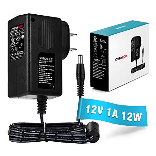 [UL Listed] Chanzon 12V 1A 12W AC DC Switching Power Supply Adapter (Input 100-240V, Output 12 Volt 1 Amp) Wall Wart Transformer Charger for DC12V Security CCTV Camera (6Ft Cord, 12 Watt Max) 100 Ma Power Supply