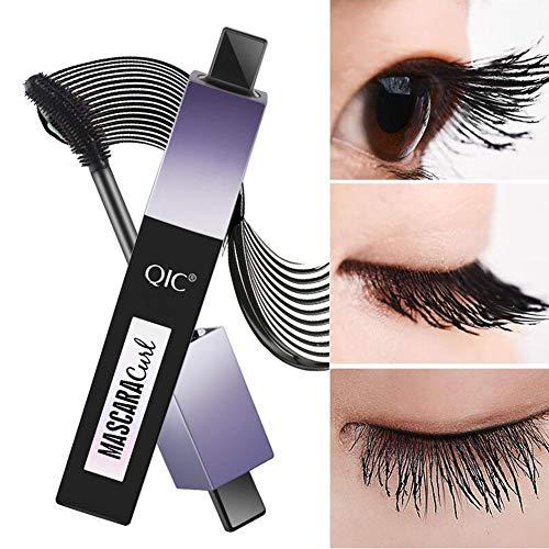 3D Silk Fiber Eyelash Mascara,Mascara Wasserdicht Rotating Curling Nicht blühendes Augem,Extra Long Lash Verlängerung & Volumen Eyelash Mascara Make-up,Schwarz