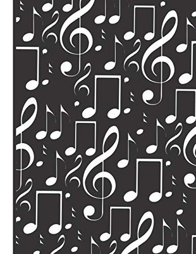 potente para casa Cuaderno de guitarra: 21,59 x 27,94 cm (8,5 x 11 pulgadas), 120 páginas, tablaturas de guitarra, por intervalo …