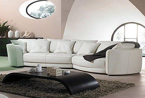 Calia Maddalena – Klassisches Sofa, luxuriös, luxuriös, Ecksofa, 400 x 160 cm, Stoff Mikrofaser, Dunkelgrün
