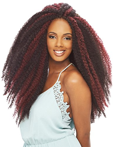 Janet Collection Afro Twist Marley Braid Crochet Hair 4 Pack (#2)
