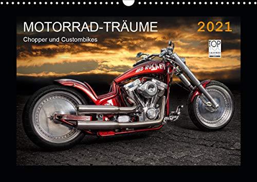 Motorrad-Träume – Chopper und Custombikes (Wandkalender 2021 DIN A3 quer)