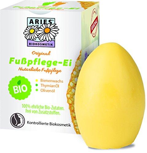 Aries Original BIO Fußpflege-Ei von Stapeler, Fußpflege Ei mit Pflege Balsam für geschmeidige Haut, 50g