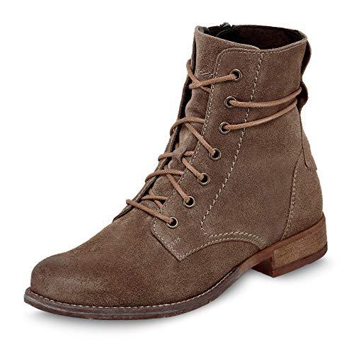 Josef Seibel Damen Combat Boots Sienna 70,Weite G (Normal),lose Einlage,Kurzstiefel,uebergangsschuhe,Women's,Beige (Taupe),40 EU / 6.5 UK