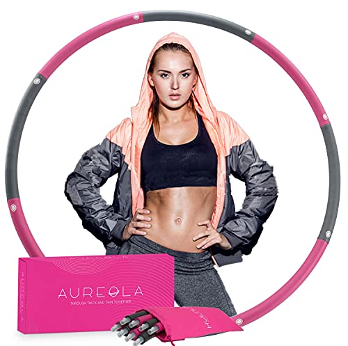 AUREOLA Hula Hoops for Adults Weight Loss, Holahoops for Fitness, Exercise Hoola Hoop for Adults Weight Loss, Weighted Hoola Hoop for Adults, Tik Tok Hula Hoop