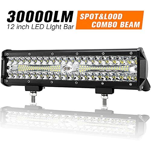 12 Inch LED Light Bar Spot Flood Combo...