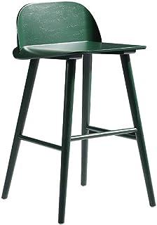 Sillas de la cocina del hogar de la sala de sillas Nordic Estilo de la manera creativa contador de cocina Sillas de madera sólido simple adapta multifuncionales modernas for Cafetería contador de coci