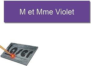 Mygoodprice Naamplaatje voor brievenbussen, zelfklevend, 10 x 2,5 cm, personaliseerbaar, 1 tot 3 regels, violet
