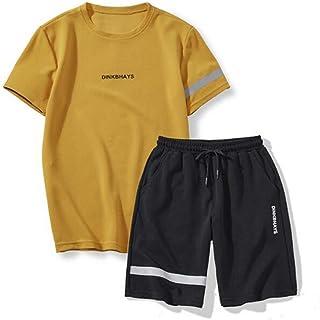 lcky Sports Shorts Men's Summer Casual Fashion Short-Sleeved Shirt Sportswear