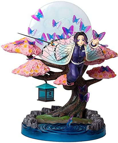 HTYY Shinobu Figurita Demonio Slayer Estatuilla Lámpara Kamado Nezuko Chica Kochou Shinobu Colectiva Estatuilla Acción PVC Anime Regalos
