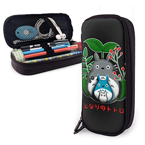 Yuanmeiju Monkey D Luffy Straw Hat Art Leather Pencil case Big Capacity with Reißverschluss High Capacity Pen Bleistiftbeutel Stationery Organizer Practical Bag Holder